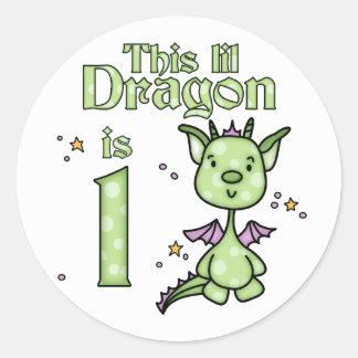 Lil Dragon 1st Birthday Sticker
