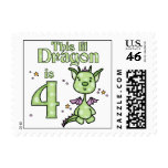 Lil Dragon 4th Birthday Postage Stamps