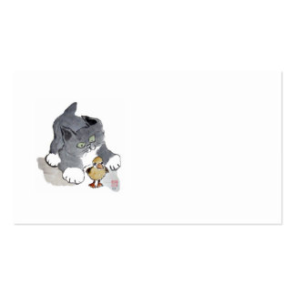 Lil' Ducky and Gray Kitten Business Card