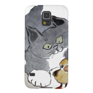 Lil' Ducky and Gray Kitten Galaxy S5 Cover