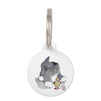Lil' Ducky and Gray Kitten Pet Tags