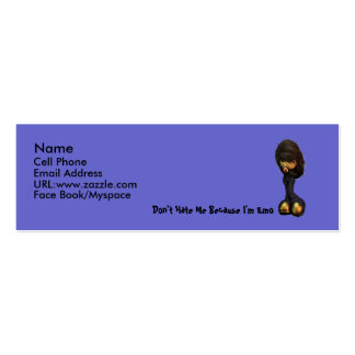 Lil Emo Girl Profile Card Business Card