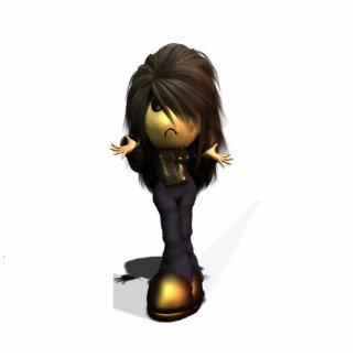 Lil Emo Girl Sculpture