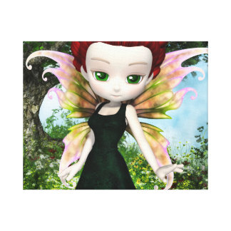 Lil Fairy Princess Stretched Canvas Print