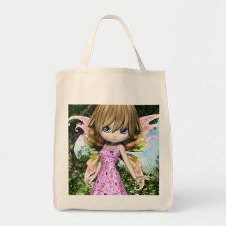 Lil Fairy Princess Grocery Tote Bag