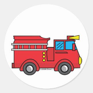 Lil Fire Truck Classic Round Sticker