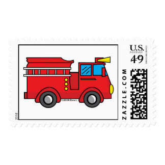 Lil Fire Truck Postage Stamps
