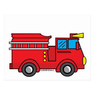 Lil Fire Truck Postcard
