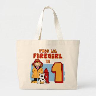 Lil Firegirl 1st Birthday Large Tote Bag