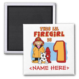 Lil Firegirl 1st Birthday Refrigerator Magnet
