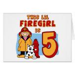 Lil Firegirl 5th Birthday Greeting Card