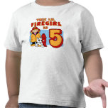 Lil Firegirl 5th Birthday Tee Shirt