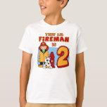 Lil Fireman 2nd Birthday T-Shirt