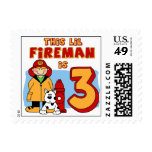 Lil Fireman 3rd Birthday Postage Stamps