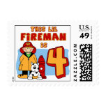 Lil Fireman 4th Birthday Stamp
