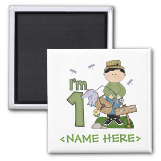Lil Fisherman 1st Birthday Fridge Magnet