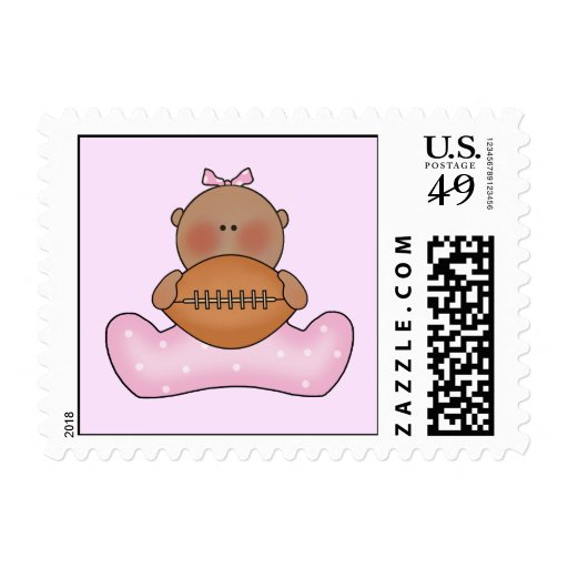 Lil Football Baby Girl - Ethnic Stamp