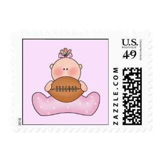 Lil Football Baby Girl Postage