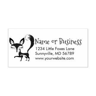Lil Fox Custom Address Self Inking Stamp