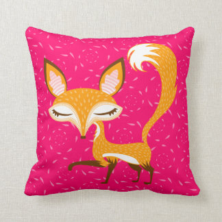 Lil Foxie - almohada de tiro femenina linda del Fo