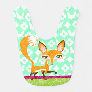 Lil Foxie - babero femenino lindo del bebé del Fox