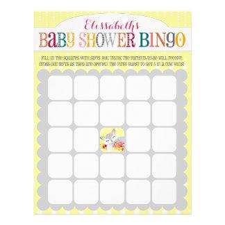 Lil Foxie Cub - bingo de la fiesta de bienvenida Flyer A Todo Color