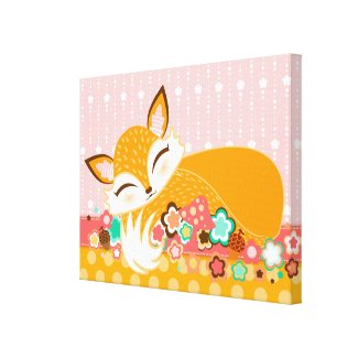 Lil Foxie Cub Canvas Art Canvas Print