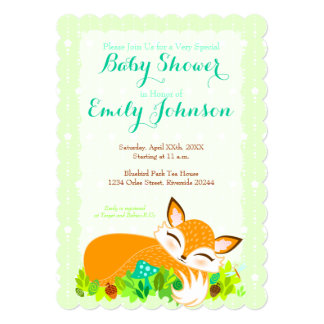 Lil Foxie Cub - Custom Baby Shower Invitations