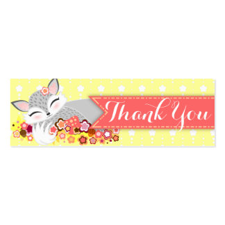 Lil Foxie Cub - Custom Baby Shower Thank You Tag Business Cards