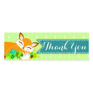 Lil Foxie Cub - Custom Baby Shower Thank You Tag Business Card Template
