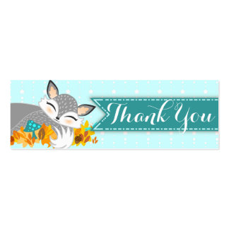 Lil Foxie Cub - Custom Baby Shower Thank You Tag Business Card Templates