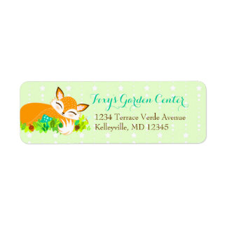 Lil Foxie Cub - Custom Return Address Labels