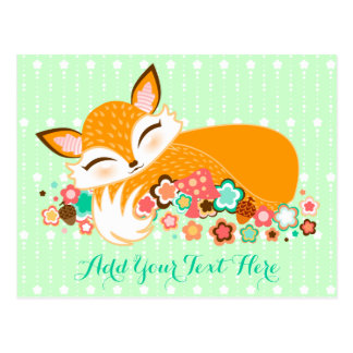 Lil Foxie Cub - Cute Baby Fox Custom Postcard