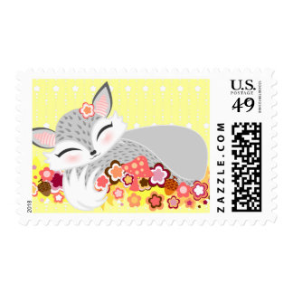 Lil Foxie Cub - Cute Baby Fox Postage Stamps