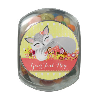 Lil Foxie Cub - Cute Custom Fox Candy Jar Jelly Belly Candy Jar