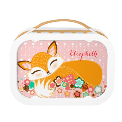 Lil Foxie Cub Cute Custom Sleepy Fox Lunch Box