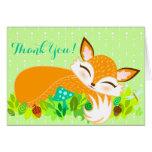 Lil Foxie Cub - Cute Custom Thank You Card