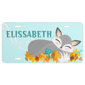 Lil Foxie Cub - Cute Custom Vanity Plate