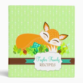 Lil Foxie Cub - Cute Sleepy Fox Custom Binder