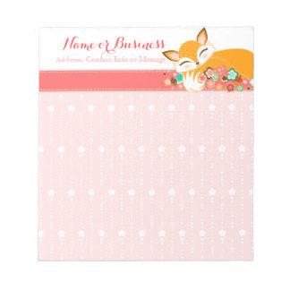 Lil Foxie Cub - Cute Sleepy Fox Custom Notepad