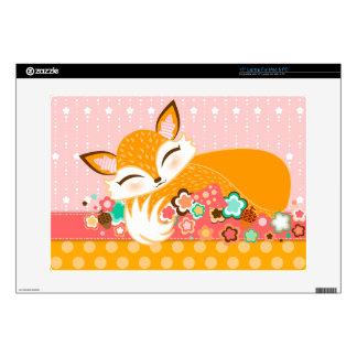 Lil Foxie Cub - Cute Sleepy Fox Laptop Skin