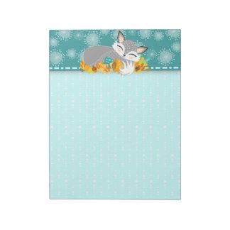 Lil Foxie Cub - Cute Sleepy Fox Notepad