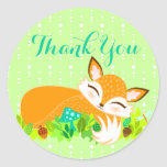 "Lil Foxie Cub - Cute ""Thank You"" Stickers"