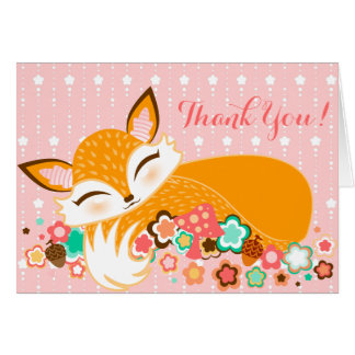 Lil Foxie Cub - el personalizado lindo le agradece Tarjeta Pequeña