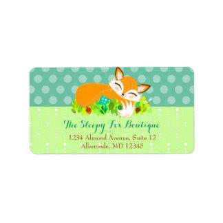 Lil Foxie Cub - etiquetas de dirección de encargo