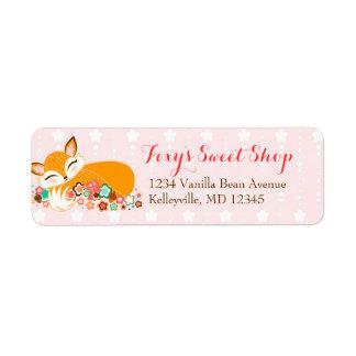 Lil Foxie Cub - etiquetas de encargo del remite Etiqueta De Remite