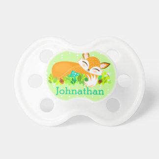 Lil Foxie Cub - Fox de encargo lindo Binky del beb Chupetes Para Bebes