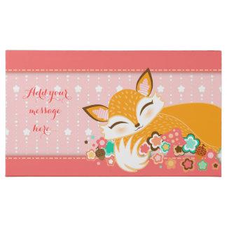 Lil Foxie Cub Girly Pink - Custom Message Milk Chocolate Bar
