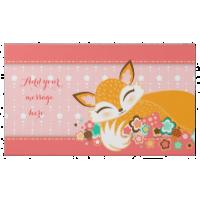Lil Foxie Cub Girly Pink - Custom Message 2 Pound Milk Chocolate Bar Box