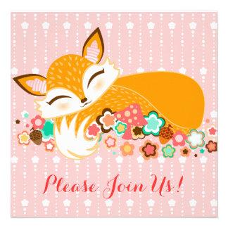 Lil Foxie Cub - invitaciones de encargo de la fies Invitacion Personalizada